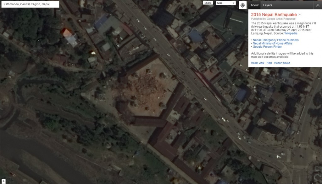 GoogleMaps_NepalAfterEarthquake