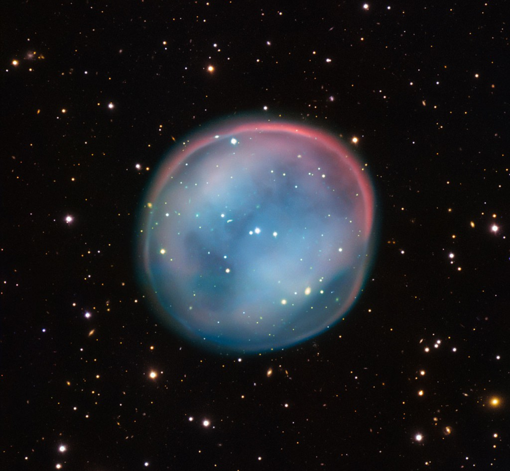 This extraordinary bubble, glowing like the ghost of a star in the haunting darkness of space, may appear supernatural and mysterious, but it is a familiar astronomical object: a planetary nebula, the remnants of a dying star. This is the best view of the little-known object ESO 378-1 yet obtained and was captured by ESO's Very Large Telescope in northern Chile.